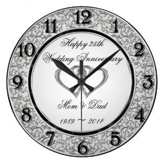 25to Reloj de pared del aniversario de boda