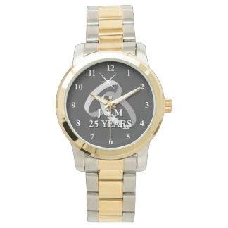 25to reloj del aniversario de bodas de plata