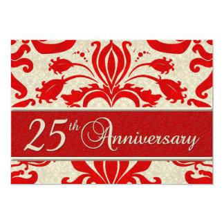 25to Rojo de la invitación del negocio del