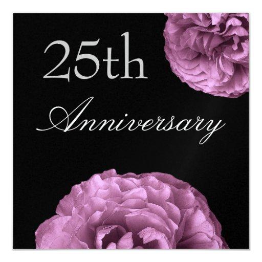 "25to Rosas de la PÚRPURA de la MORA de la Invitación 5.25"" X 5.25"""