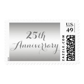 25to sello del aniversario de la plata simple