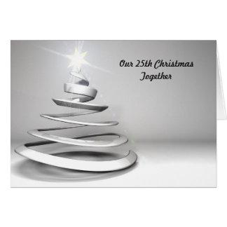 25to Tarjeta de Navidad del navidad junto