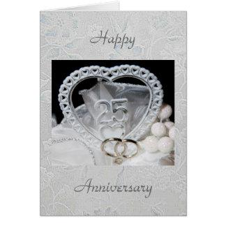 25to Tarjeta del aniversario de boda