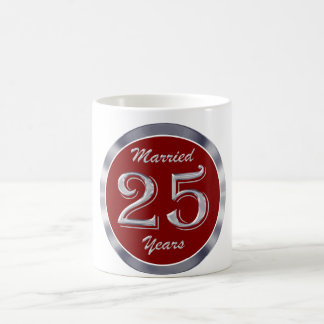 25to Taza de café de Anniversay