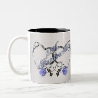 25to Taza de café del aniversario