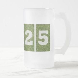 25to Taza del vidrio del fútbol de la yarda del