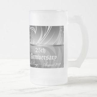 25to Taza floral de Stein de la cerveza del aniver