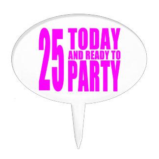 25tos cumpleaños de los chicas: 25 hoy y aliste pa figura para tarta