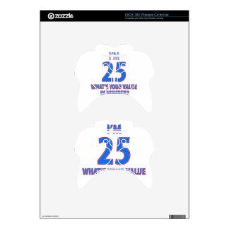 25tos diseños del cumpleaños mando xbox 360 calcomanía