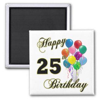 25tos regalos de cumpleaños felices con los globos iman