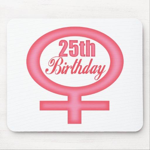 25tos regalos de cumpleaños para mujer tapete de ratón
