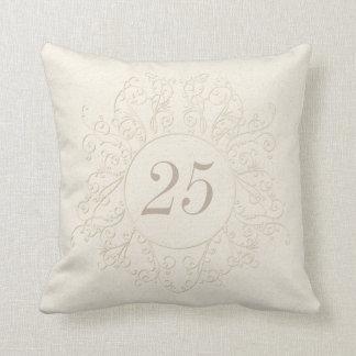 25tos regalos personalizados del aniversario o cojín