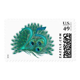 25tos sellos decorativos del número