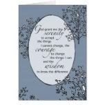 2605 Serenity Prayer Blue Card