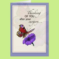 2609 Butterfly, Flower, after Surgery Card