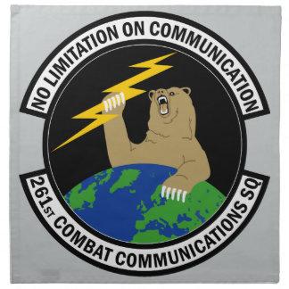 261st Combat Communications Squadron Cloth Napkin