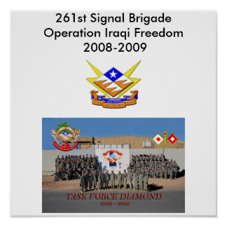 261st Signal Brigade Poster