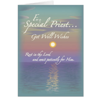 2627 Get Well Wishes Priest Greeting Cards