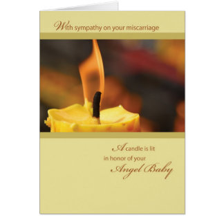 2642 Honor Angel Baby Candle Card