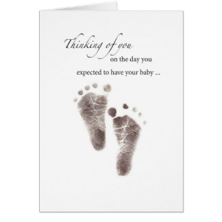 2644 Expected Baby Footprints Card