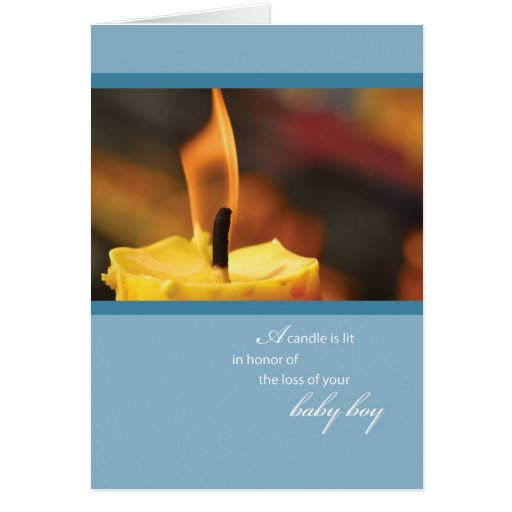 2645 Loss of Baby Boy Candle Greeting Card