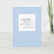 2652 Angel Baby Wings Blue Sympathy Card