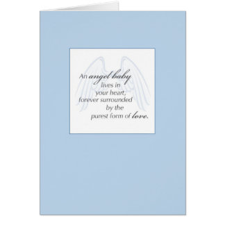 2652 Angel Baby Wings Blue Sympathy Cards