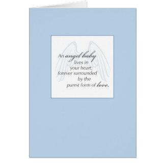 2652 Angel Baby Wings Blue Sympathy Greeting Card