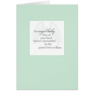 2653 Angel Baby Wings Green, Sympathy Card