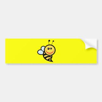 2654-Royalty-Free-Little-Bee-Cartoon-Character CUT Bumper Stickers