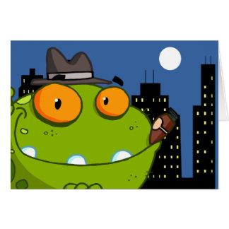 2657 MOBSTER CARTOON CITY FROG ORANGE EYEBALLS DAN GREETING CARDS