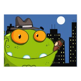 2657 MOBSTER CARTOON CITY FROG ORANGE EYEBALLS DAN CARD