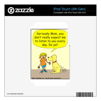 265 seriously mom cartoon iPod touch 4G decal