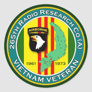 265th RRC - ASA Vietnam Classic Round Sticker