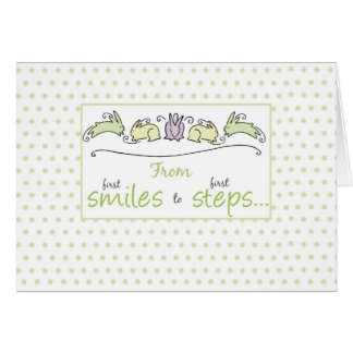 2660 First Smiles to First Steps Baby Card
