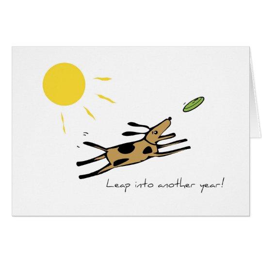 2662 Leap Dog Birthday Card