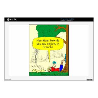 """266 Déjà vu cartoon 17"""" Laptop Decals"""