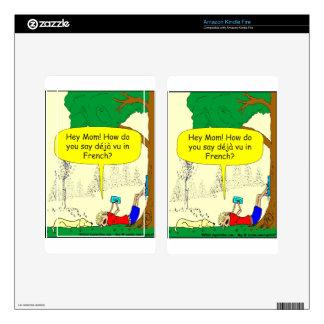 266 Déjà vu cartoon Decals For Kindle Fire