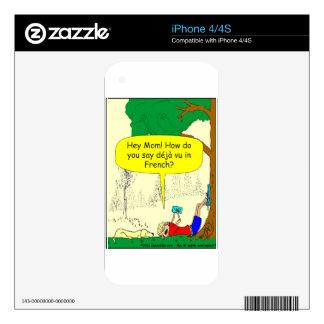 266 Déjà vu cartoon iPhone 4S Decal