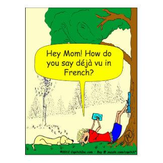 266 Déjà vu cartoon Postcard