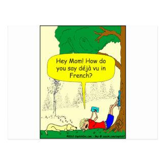 266 Déjà vu zazzle cartoon Postcard