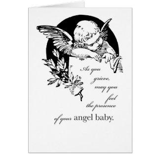 2670 pérdida de bebé, ángel tarjeta de felicitación