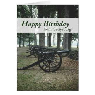 2676 Gettysburg Canons Birthday Cards