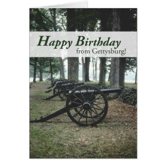2676 Gettysburg Canons Birthday Card