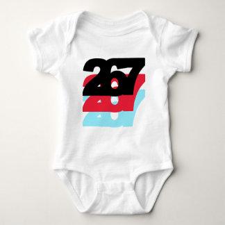 267 Area Code Baby Bodysuit