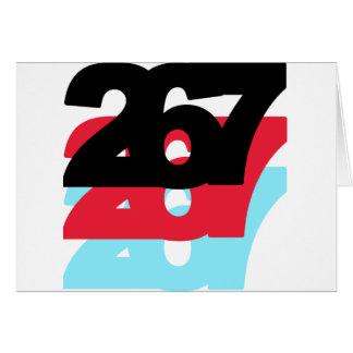 267 Area Code Greeting Card