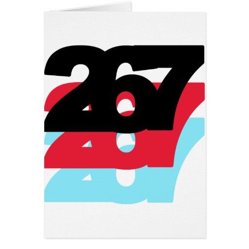 267 Area Code Cards