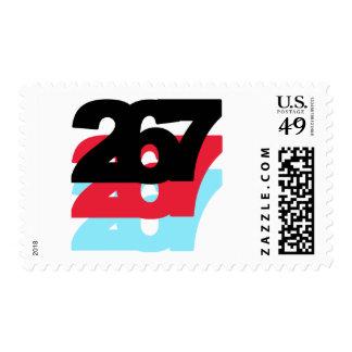 267 Area Code Stamp
