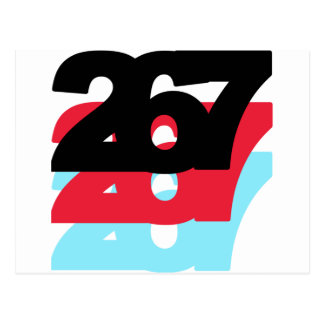 267 Area Code Postcard