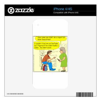 267 Descartes no video cartoon Skin For The iPhone 4S